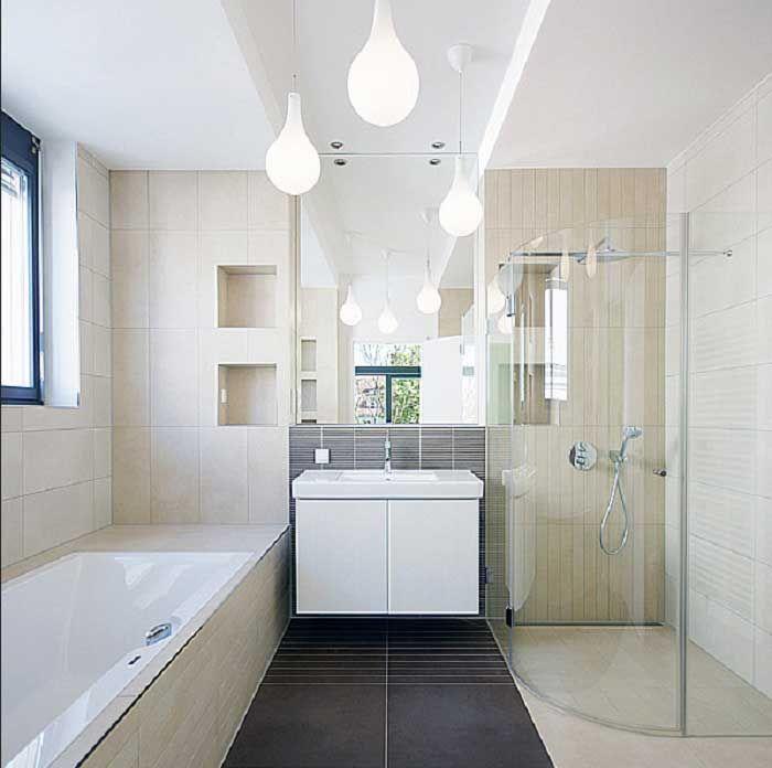 Badezimmer Ideen Einfaches Design Kleines Bad Mit Modernen Mobeln