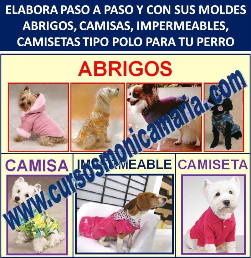 curso corte confeccion ropa perros camisas abrigos impermeables camisetas polo mascotas moldes
