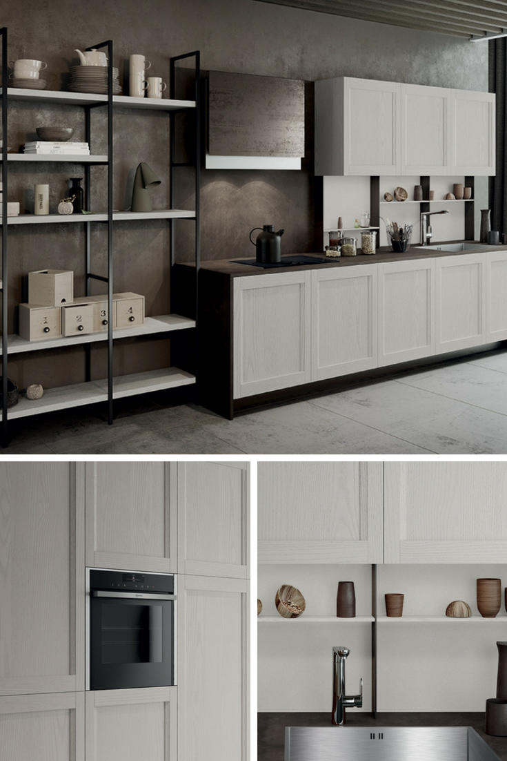 Cucina moderna versatile con finiture trasversali | Cucine ...