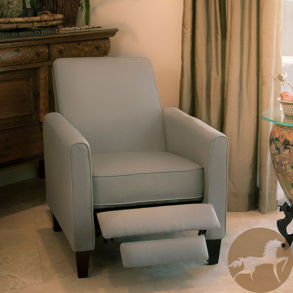 Christopher Knight Home Darvis Grey Recliner Club Chair Endearing Overstock Living Room Chairs Decorating Design