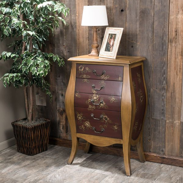 Christopher Knight Home McKinley 5 Drawer Wood Cabinet (1,760 CNY) ❤ Liked  On