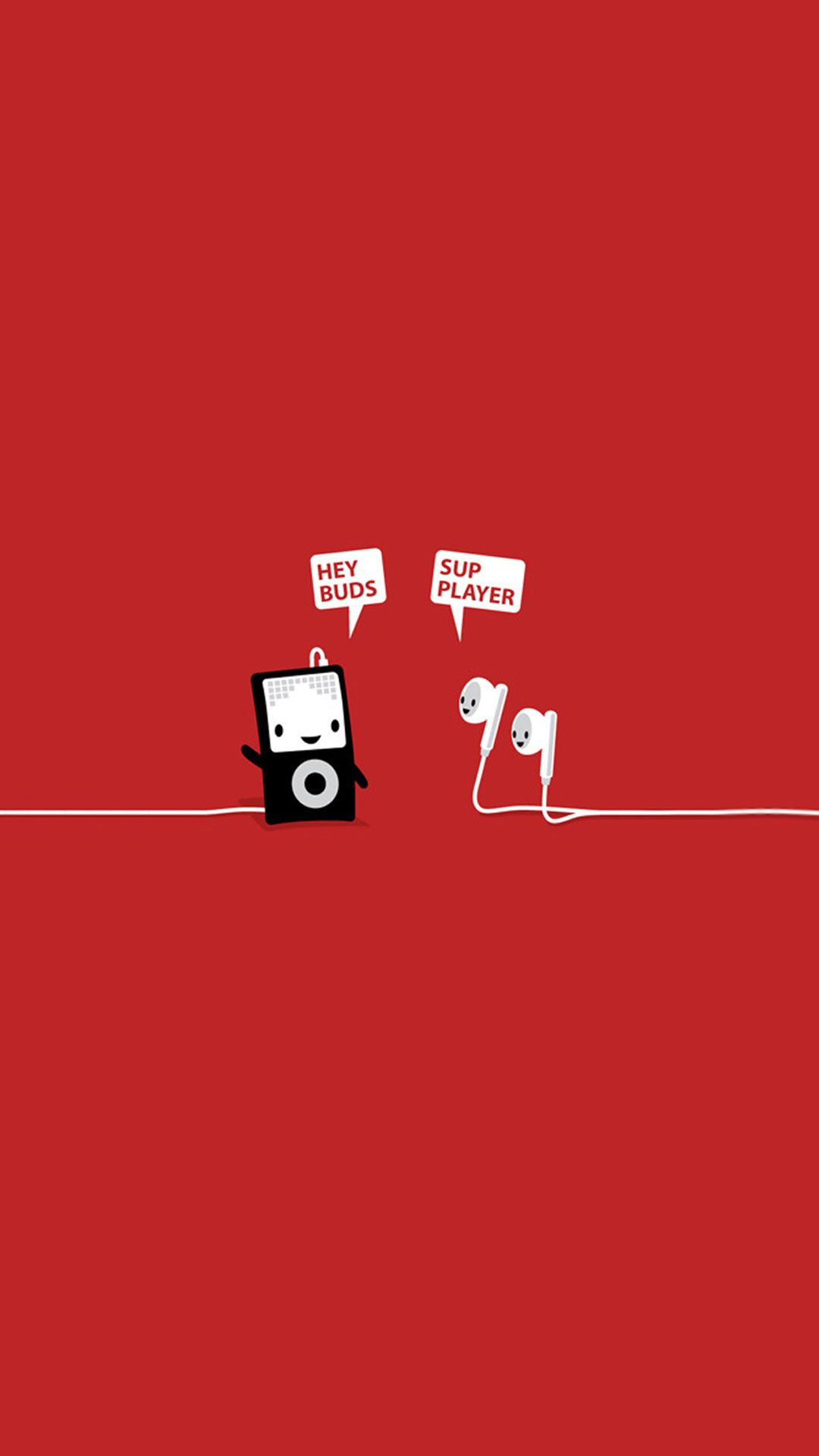 Funny Music Headphones Player Buds Iphone 6 Hd Wallpaper Headers