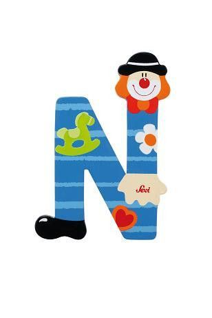 Letter N Clown Wooden Toys And Toy