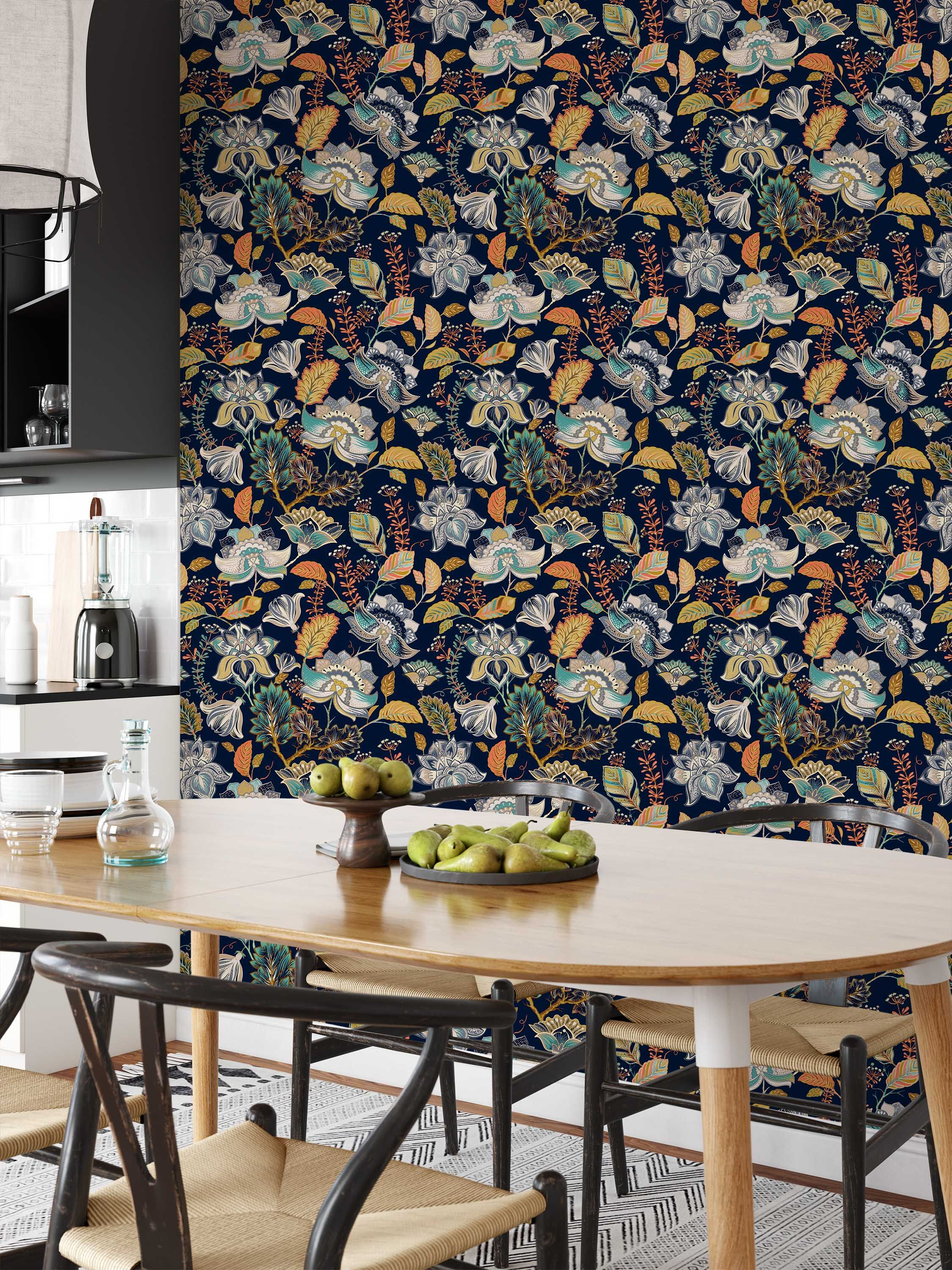 Removable Wallpaper Peel And Stick Wallpaper Home Decor Wall Decor Wall Mural Wall Paper Floral Wallpaper In 2020 Floral Wallpaper Removable Wallpaper Home Wallpaper