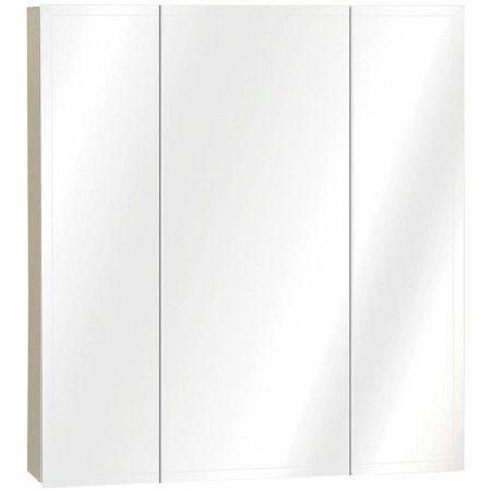 Zenith M24 23.63  x 25.50 inch x 4.5 inch Tri-View Mirror Medicine Cabinet, Multicolor