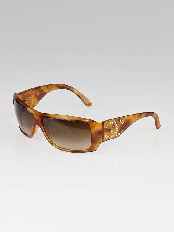 Chanel Tortoise Shell Frame CC Logo Sunglasses-6021-B | Shades ...