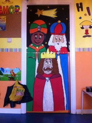 Puertas navidad 0 pinteres for Puertas decoradas enero