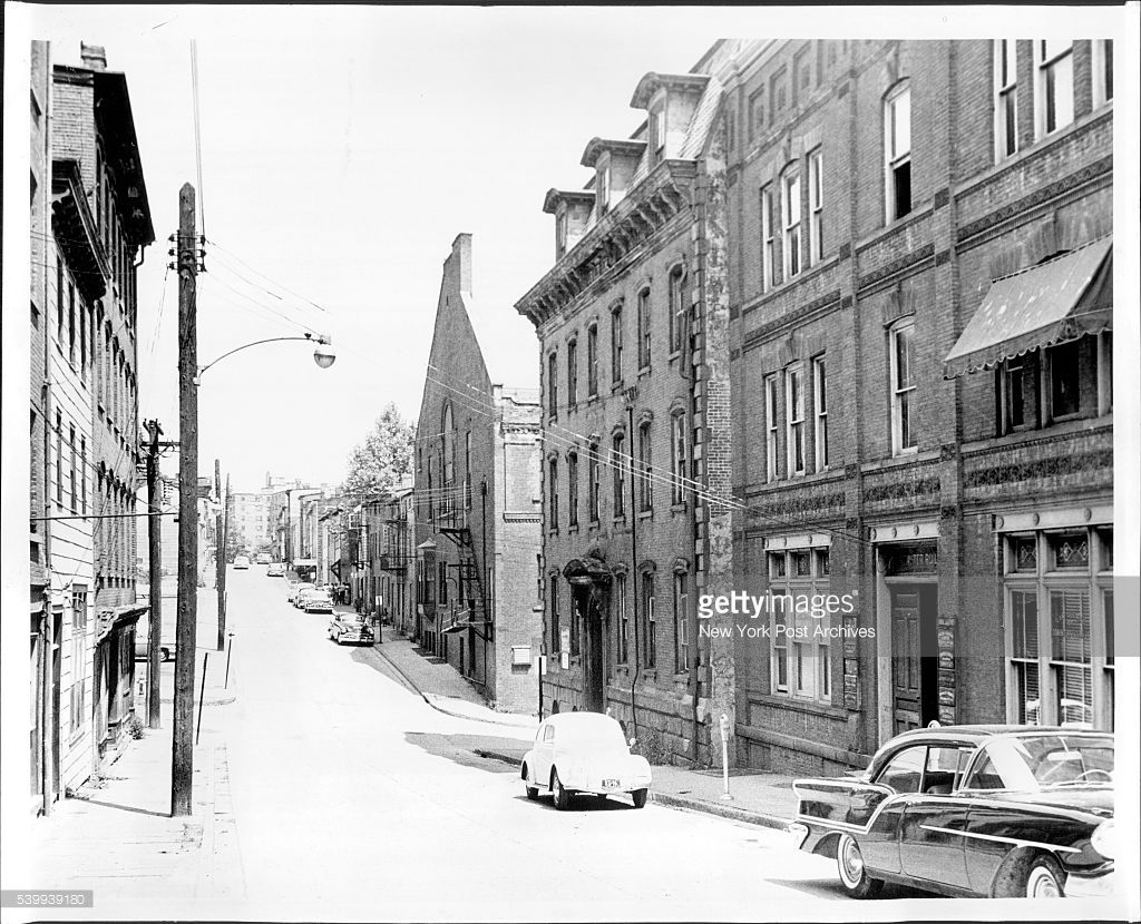 For Fern Marja Eckman-- Newburgh Welfare story- smith St. looking north from sefcond St, to the Bourne Apts. July 27, 1961.