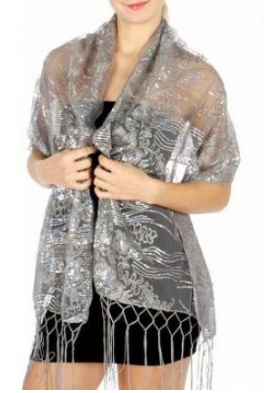 Silver Evening Shawls for Dresses