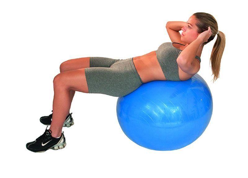 00f7db1b41 Bola suiça gym ball 65 cm azul acte