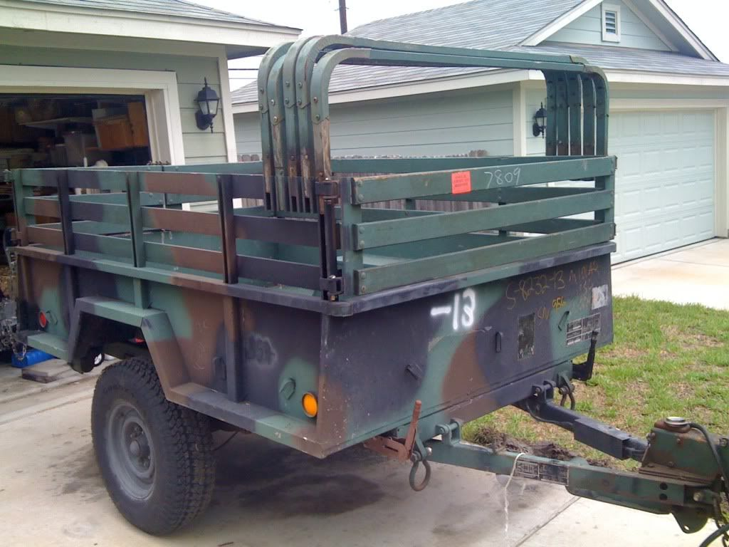 military M101A2 trailer great place to start! Campers