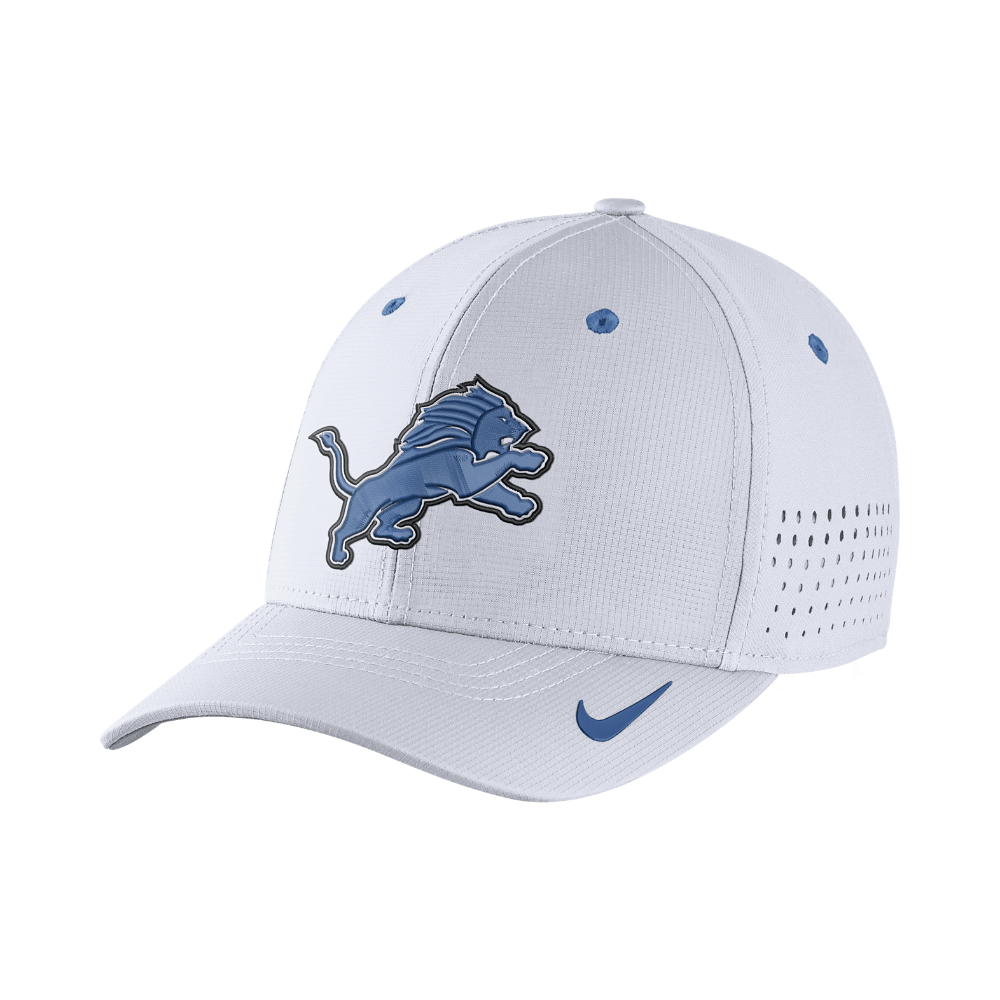 52e5402b795 Nike Legacy Vapor Swoosh Flex (NFL Lions) Fitted Hat Size Large XL (White)  - Clearance Sale
