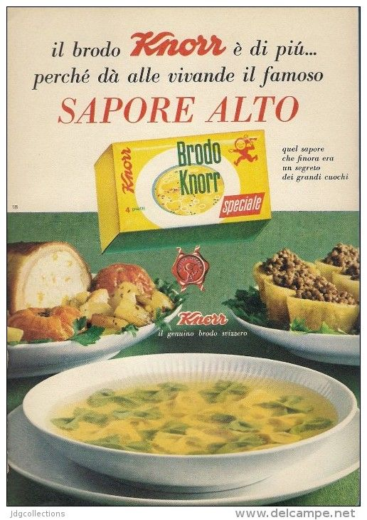 Vintage Italian Knorr soup broth ad