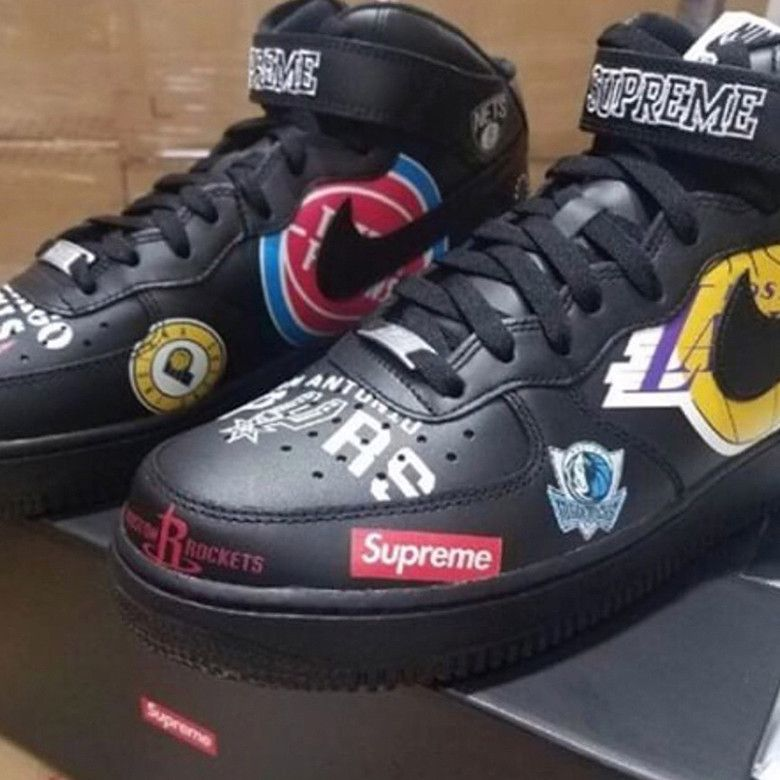quality design 1147b fbebb Supreme x Nike Air Force 1 Mid to Feature NBA Team Logos ...