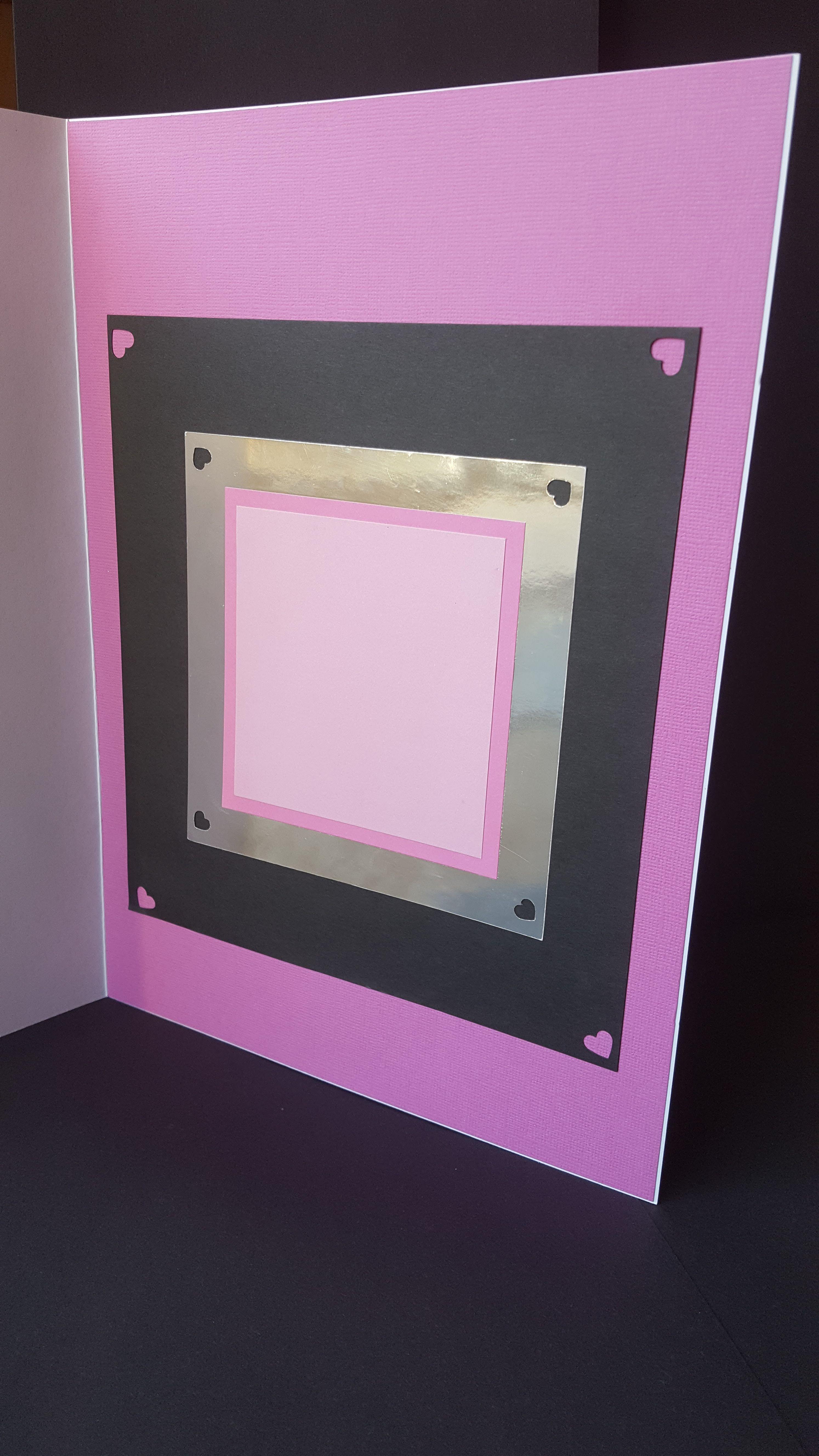 Black Pink Silver Daughter Happy Birthday Card Personalised