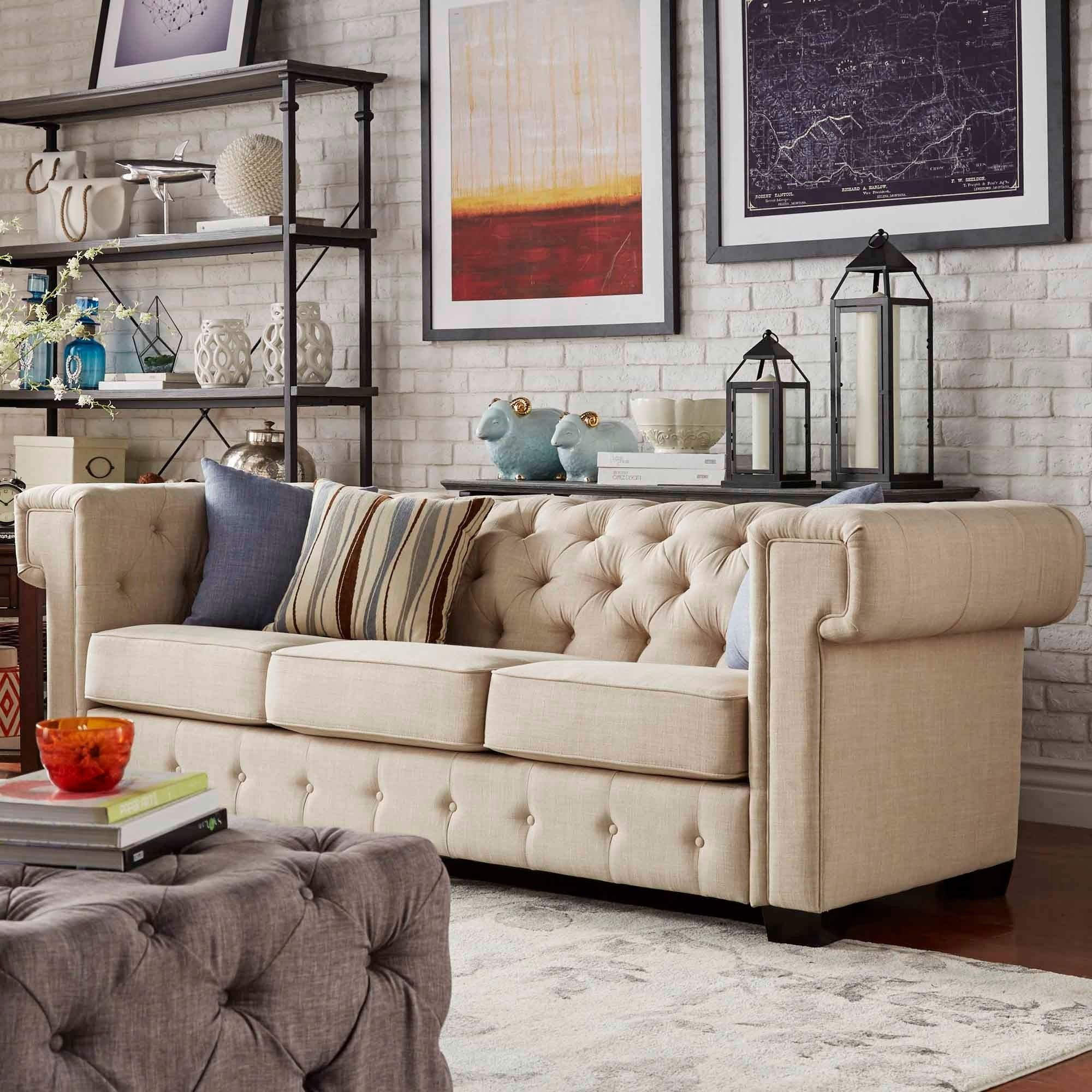 Knightsbridge Tufted Squared Arm Chesterfield Sofa by Signal Hills