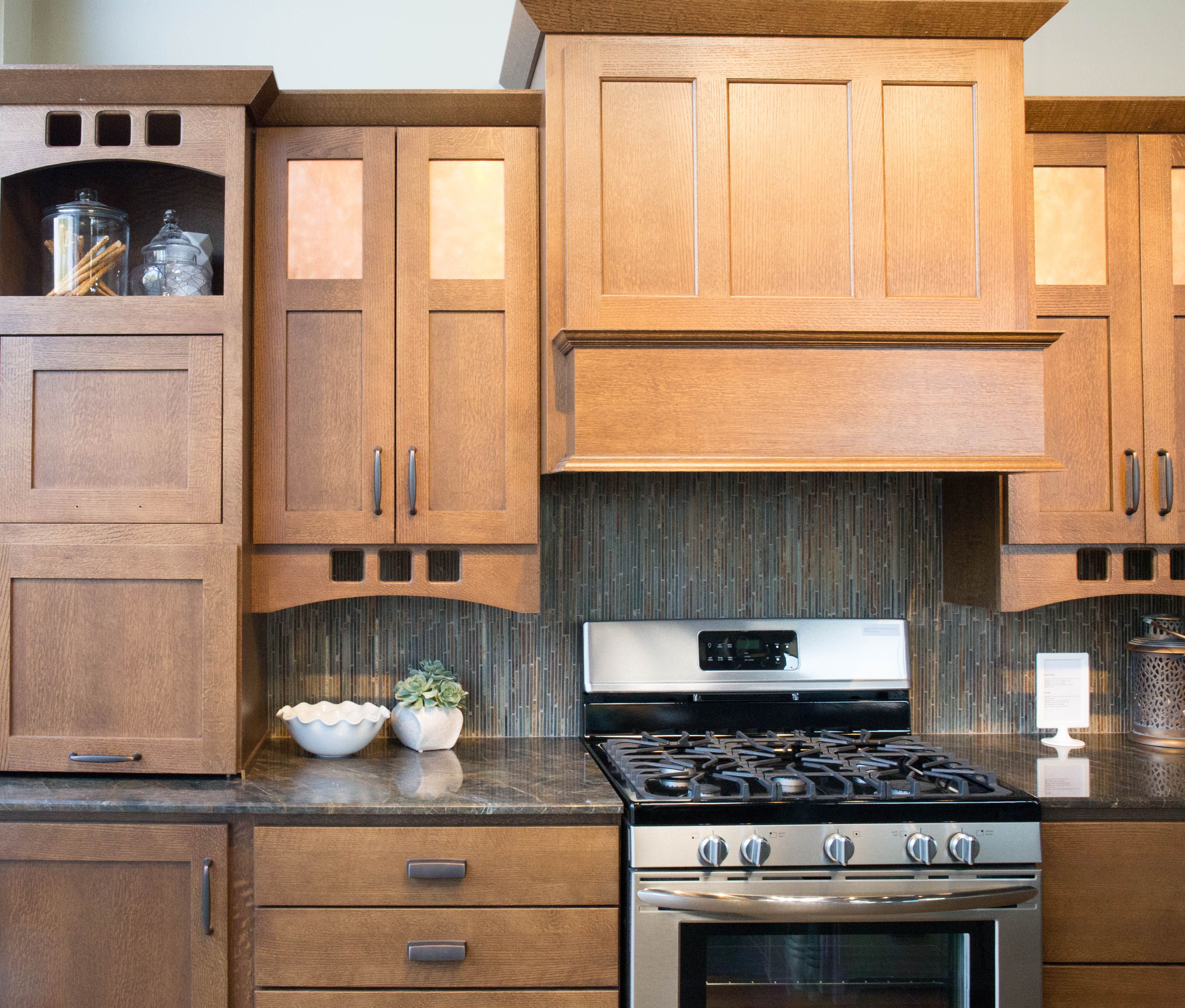 Copper Cabinet Accents Stainless Steel Appliances And Oil Rubbed