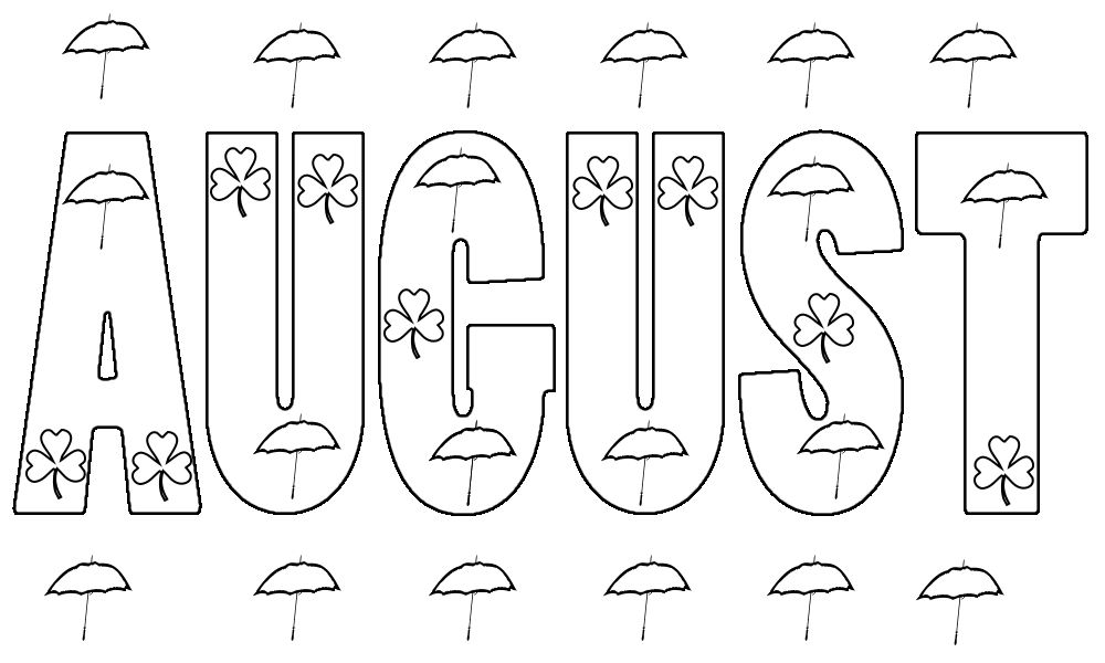 August Coloring Pages Free Coloring Pages Coloring Pages For Kids Free Coloring Pages