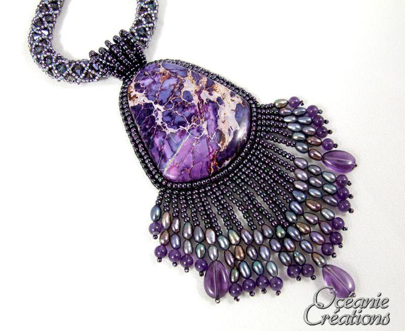 Bijoux faits main en broderie de perles