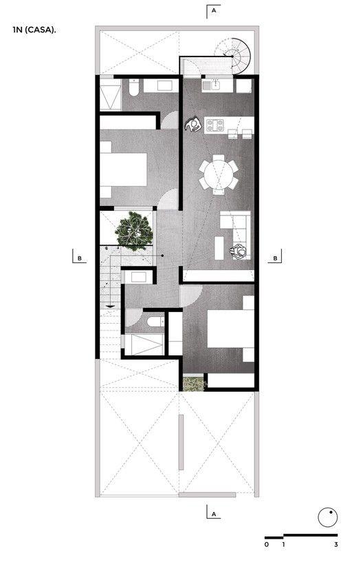 Galer a de casa estudio intersticial arquitectura 17 for Arquitectura moderna planos