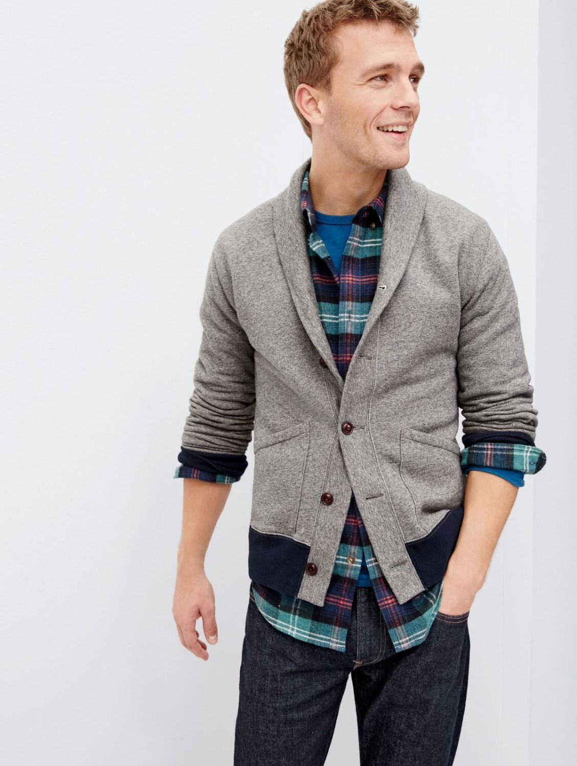 On our radar. The J.Crew men's modern cardigan. Athletic-inspired ...