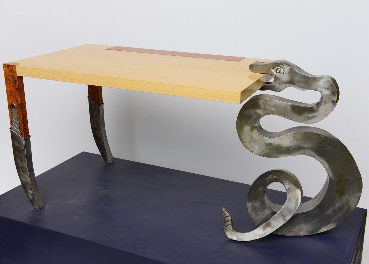 Extraordinary Ashwood Desk After Ico Parisi Italy 1950s