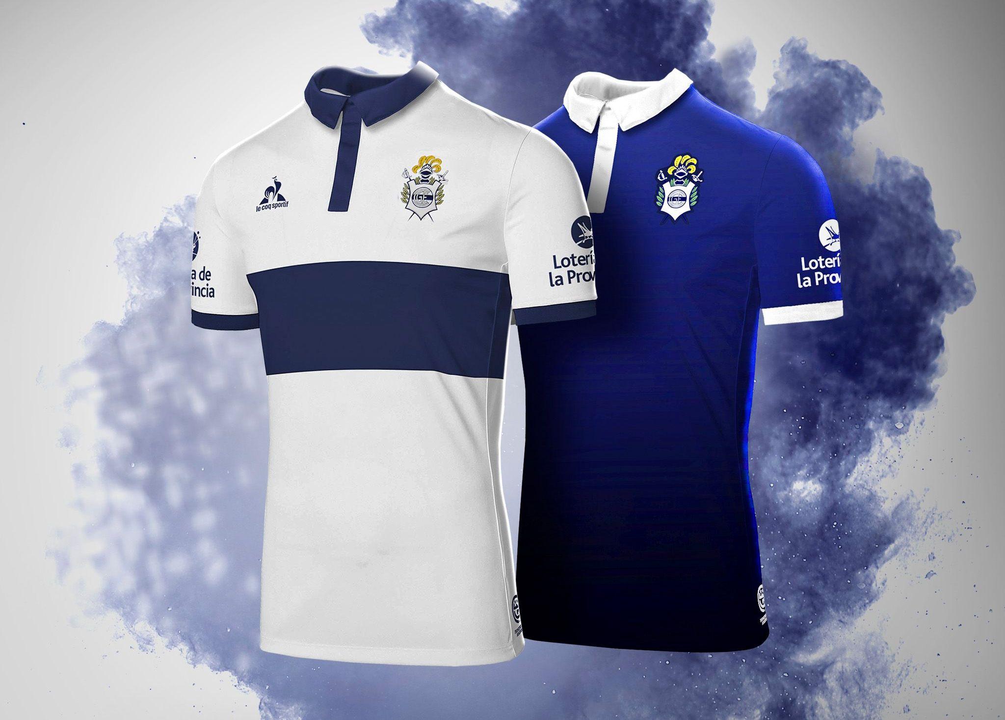 Camisas do Gimnasia y Esgrima La Plata 2017-2018 Le Coq Sportif ... a58354b49ca59