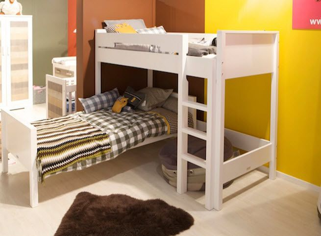 Bopita Etagenbett : Weisses etagenbett im kinderzimmer weiss individuals