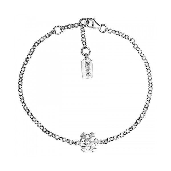 Silver charm bracelets with a beautiful snow