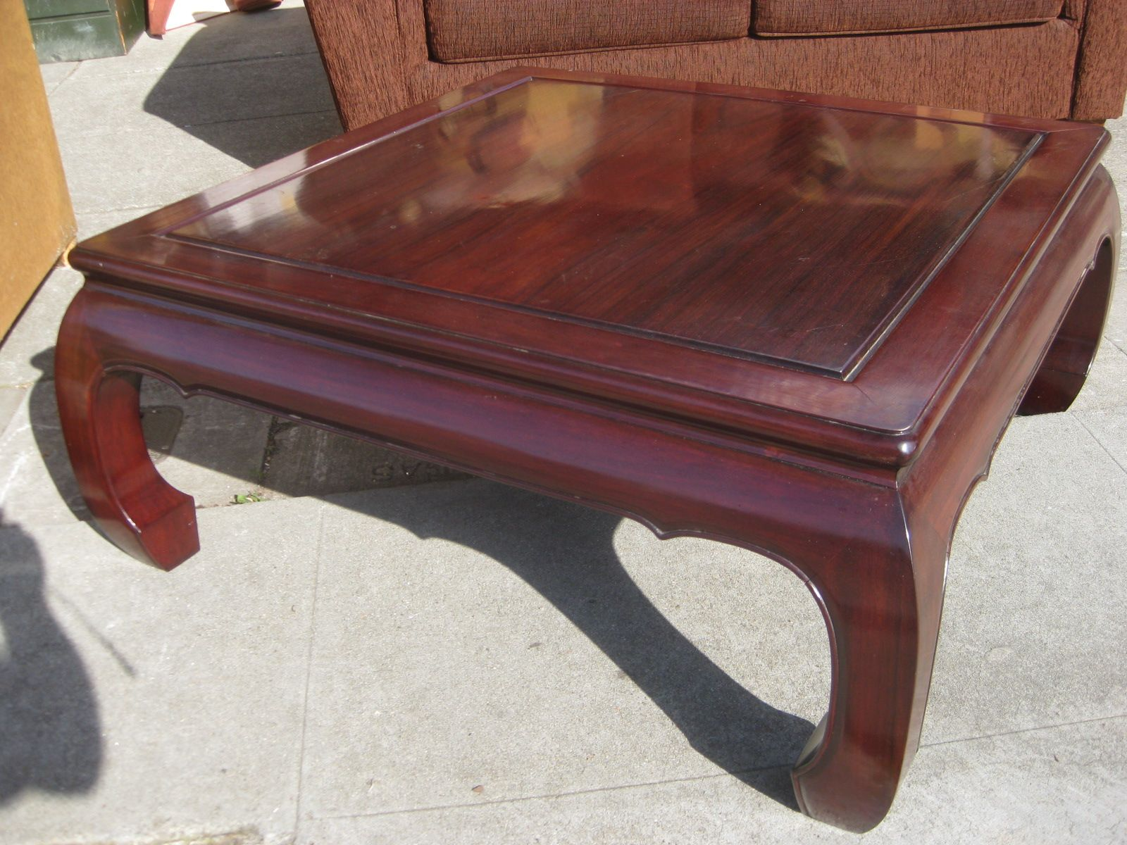 Oriental Rosewood Coffee Table Then the