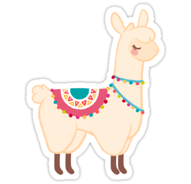 LLAMA FLOWER CROWN WALL JUMBO STICKERS.Peel/&Stick|Removable|Amovibles|Home Decor