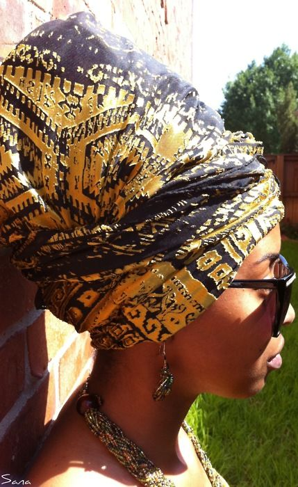 soulflowerbarbz: turbanista: Chic Turban I need to learn how to do this