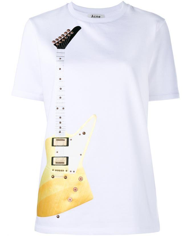 ACNE STUDIOS Eris Guitar T-Shirt. #acnestudios #cloth #