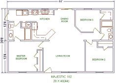 28 X 40 House Plans Google Search 20x40 House Plans House Floor Plans Bedroom House Plans