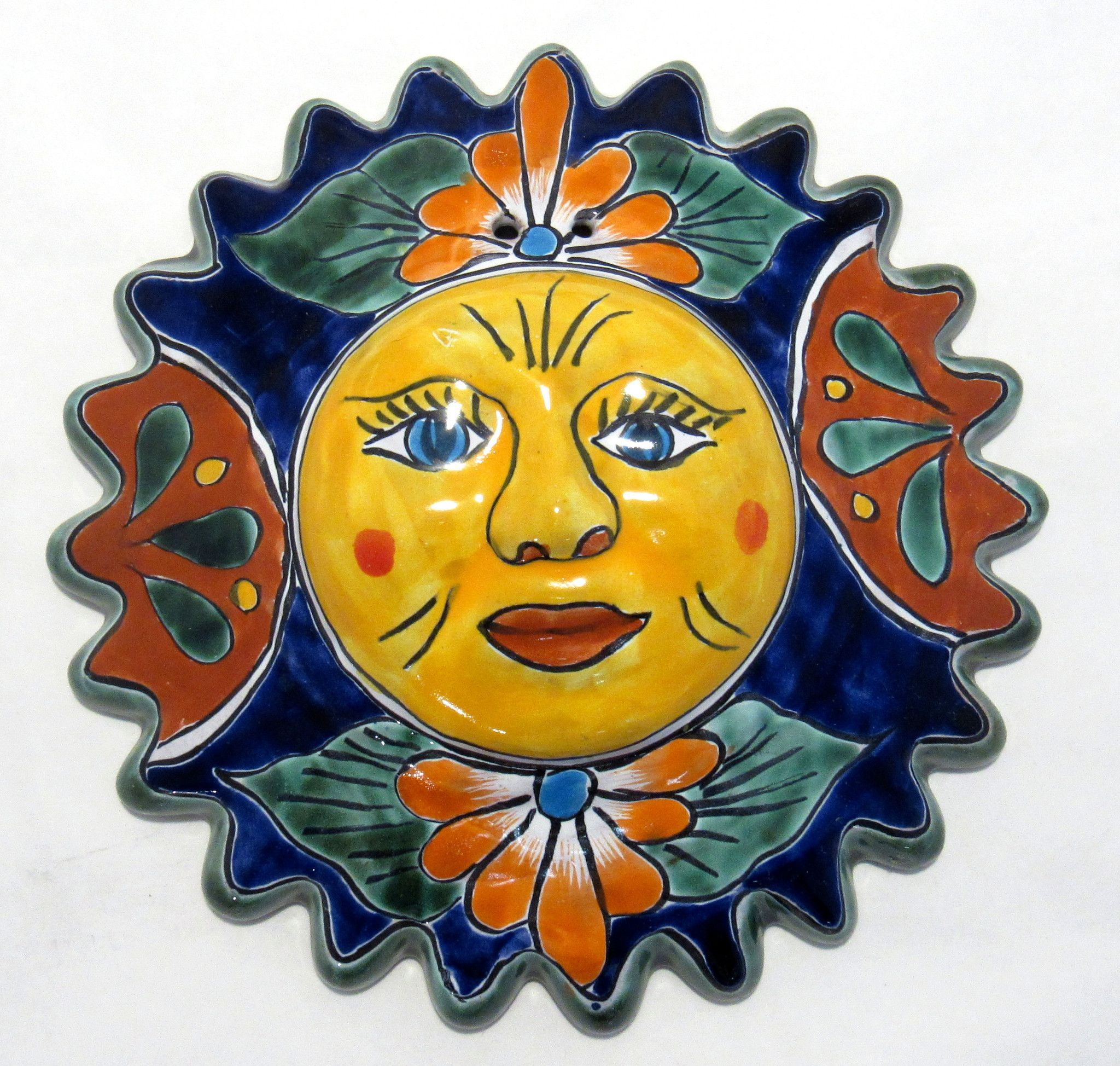 TALAVERA SUN FACE HAND PAINTED MEASURES 10\
