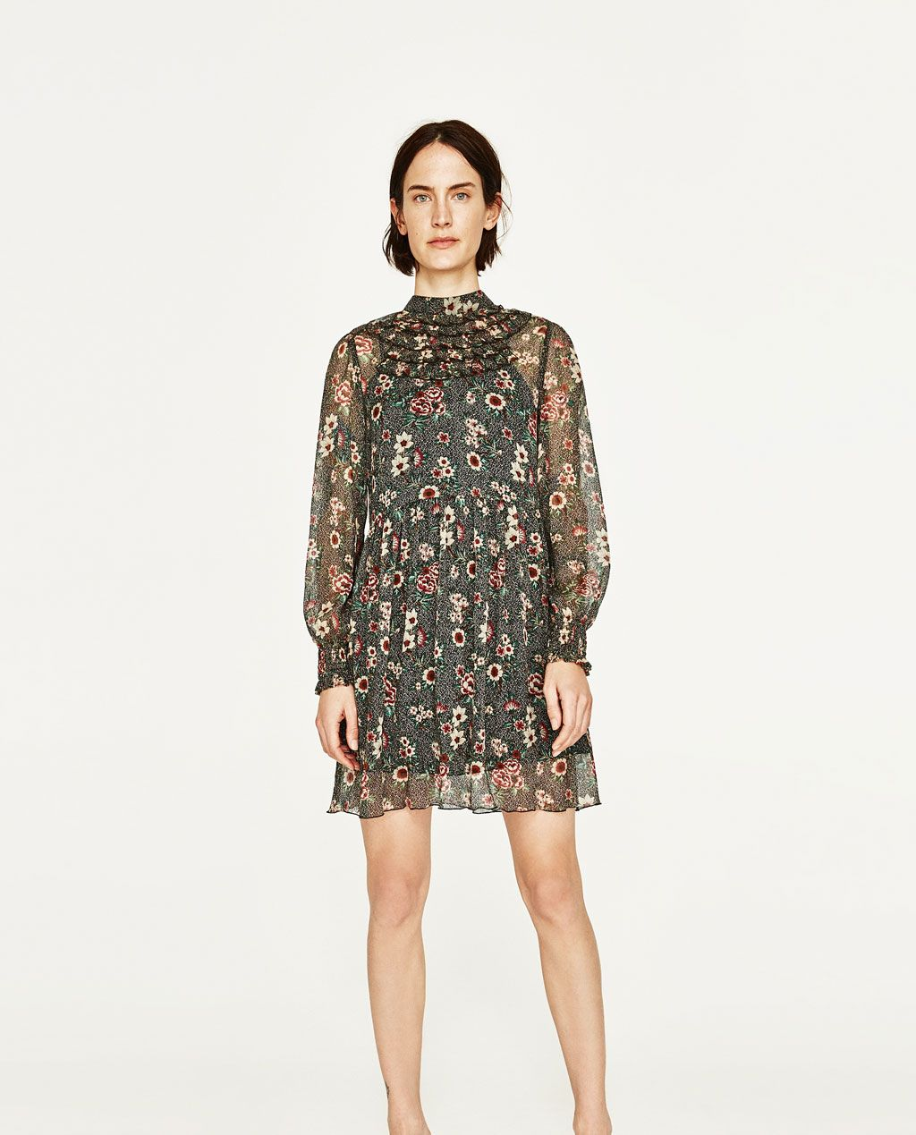 9421dc24 DRESS WITH CHEST FRILLS-NEW IN-WOMAN | ZARA United States | style ...