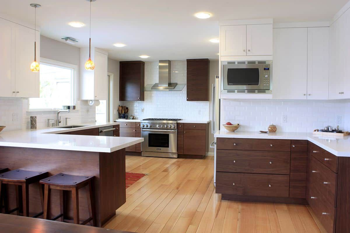 Timeless Wood Walnut Kitchen Cabinets