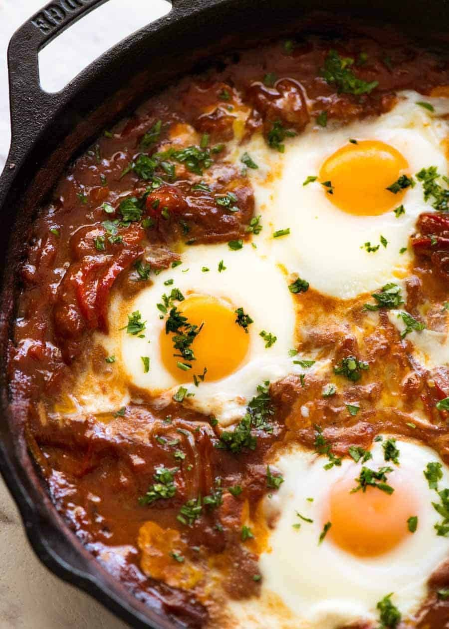 Photo of Shakshuka (Middle Eastern Baked Eggs)