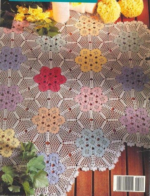 Nappes et leurs grilles gratuites au crochet motivo - Napperon crochet grille gratuite ...