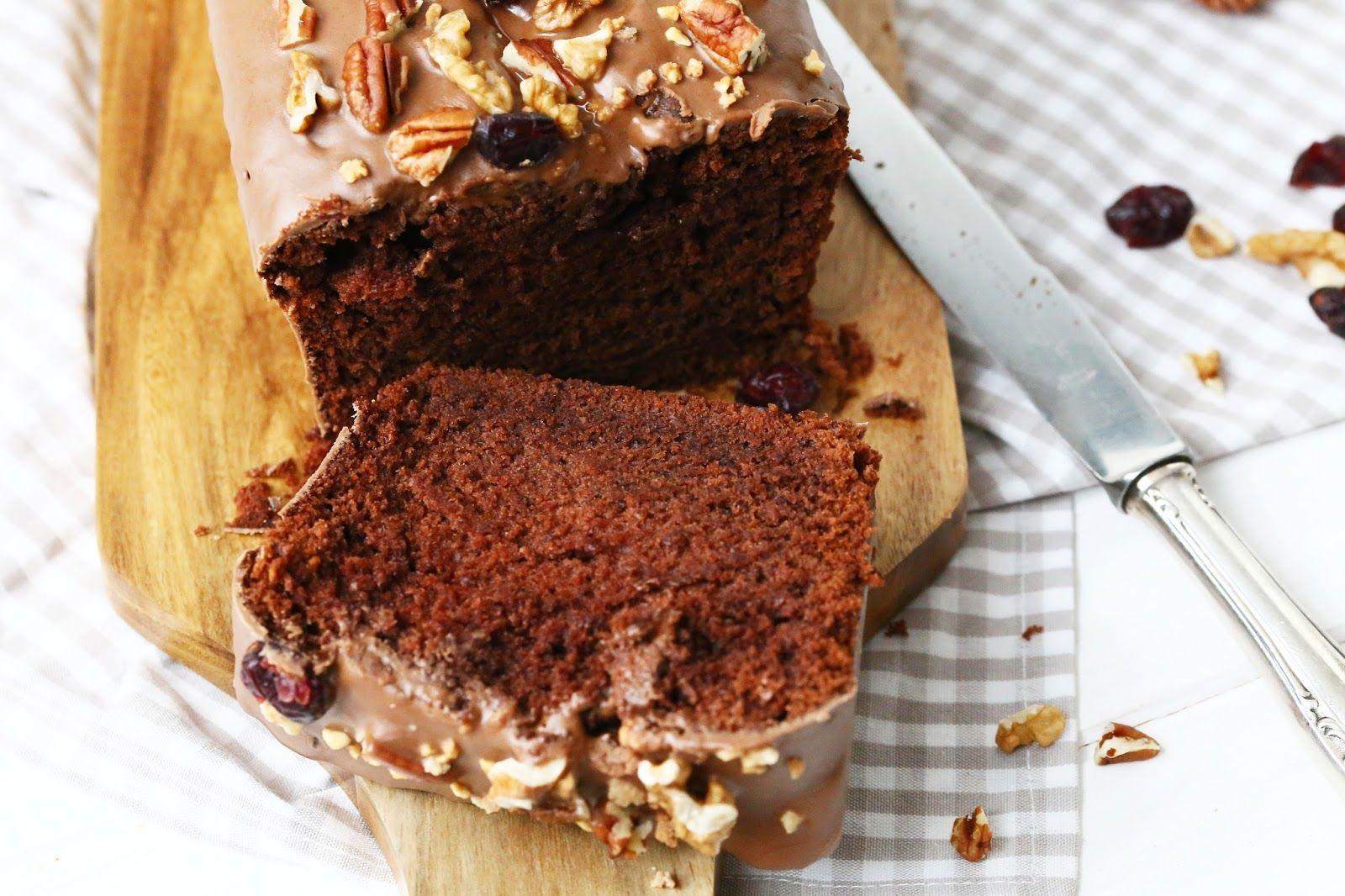 schoko bananen kuchen mit cranberry nuss topping food sweet bakery schoko bananen kuchen. Black Bedroom Furniture Sets. Home Design Ideas