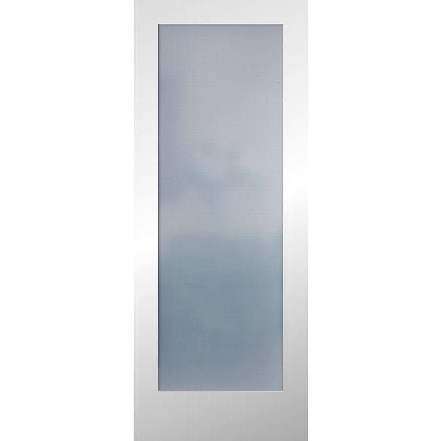 Reliabilt full lite frosted glass slab interior door for Interior glass doors