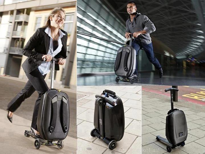 Skateboard suitcase.  WTF?? ha ha