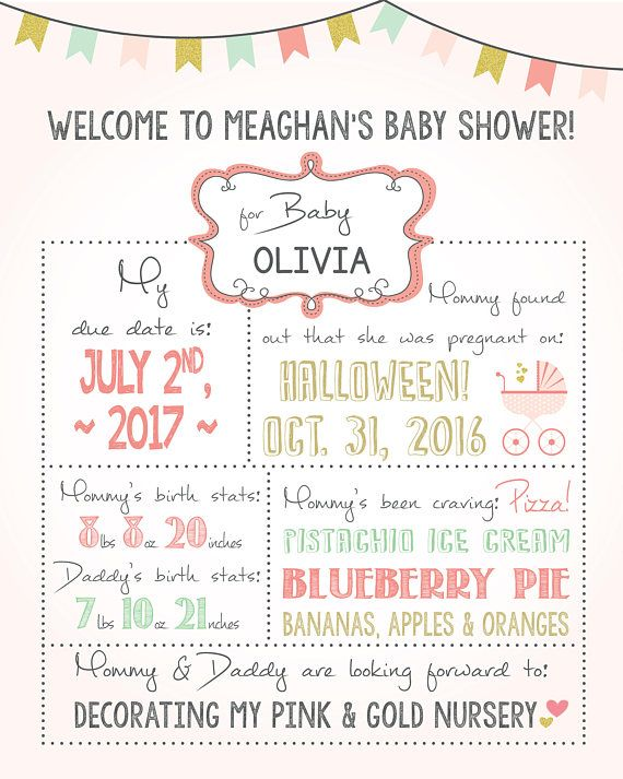 baby shower welcome sign girl baby shower yard sign printable personalized sign baby shower decor