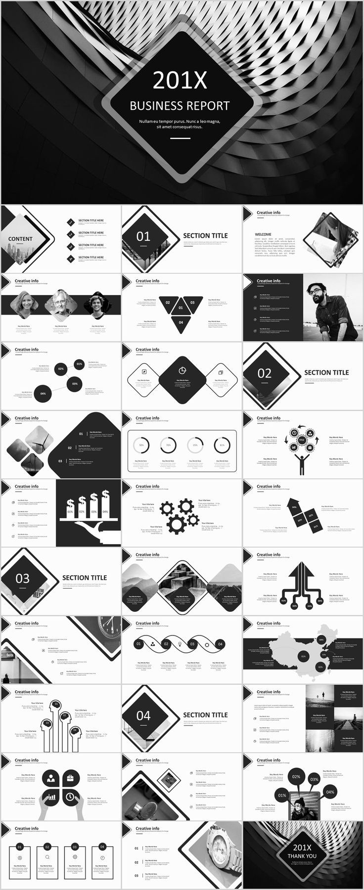 31 gray creative timeline powerpoint template on behance