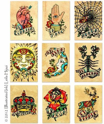 4e4ebd1bf50dc loteria cards tattoo - Google Search