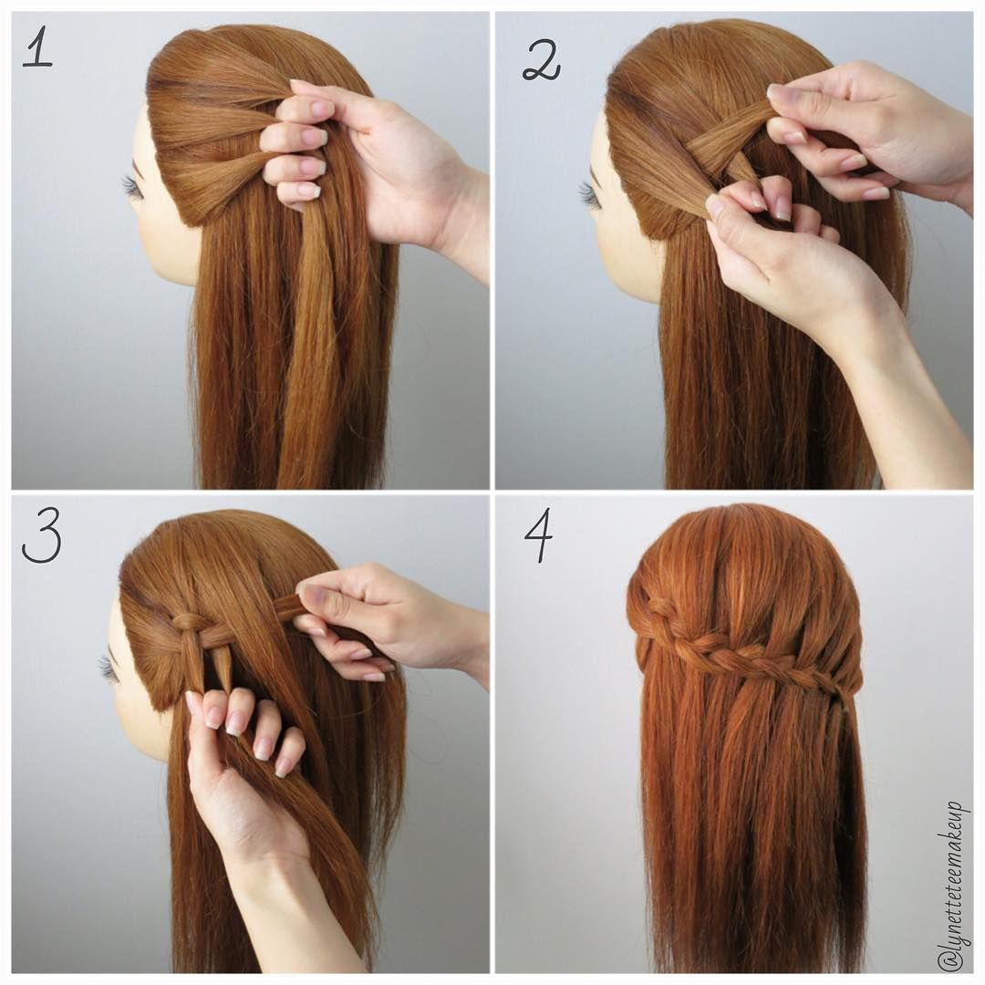 Dutch Three Strand Waterfall Braids Check Out The Steps Below