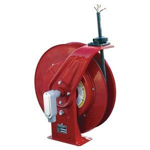 Cord Reel, 20A, 600V, 50Ft, Red, Wire Leads by Reelcraft. $1389.42. Heavy-Duty Cord ReelsHigh-capacity collector ring. Speed-latch mechanism with latch cam. Powder-coated steel with welded base. UL Listed and CSA Certified. Extension CordSingle-connector units have clamping strain relief. Duplex GFCI unit features flip-top connector cover.Heavy Duty Cord Reel, Industrial, Automatic Retracting, Gauge/Conductor 10/4, Cord Type SO, Cord Length (Ft.) 50, Color Red, Volta...