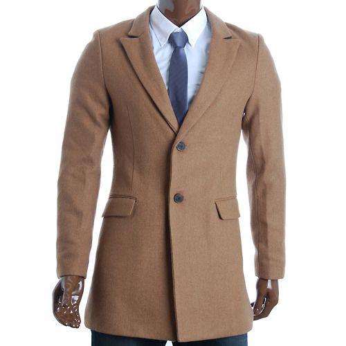 FLATSEVEN Mens Slim Casual Winter Wool Blends Blazer Jacket