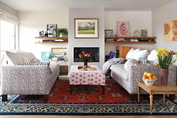 Vintage Teppiche und Tapeten für kreative Interieurs Haus - tapeten wohnzimmer