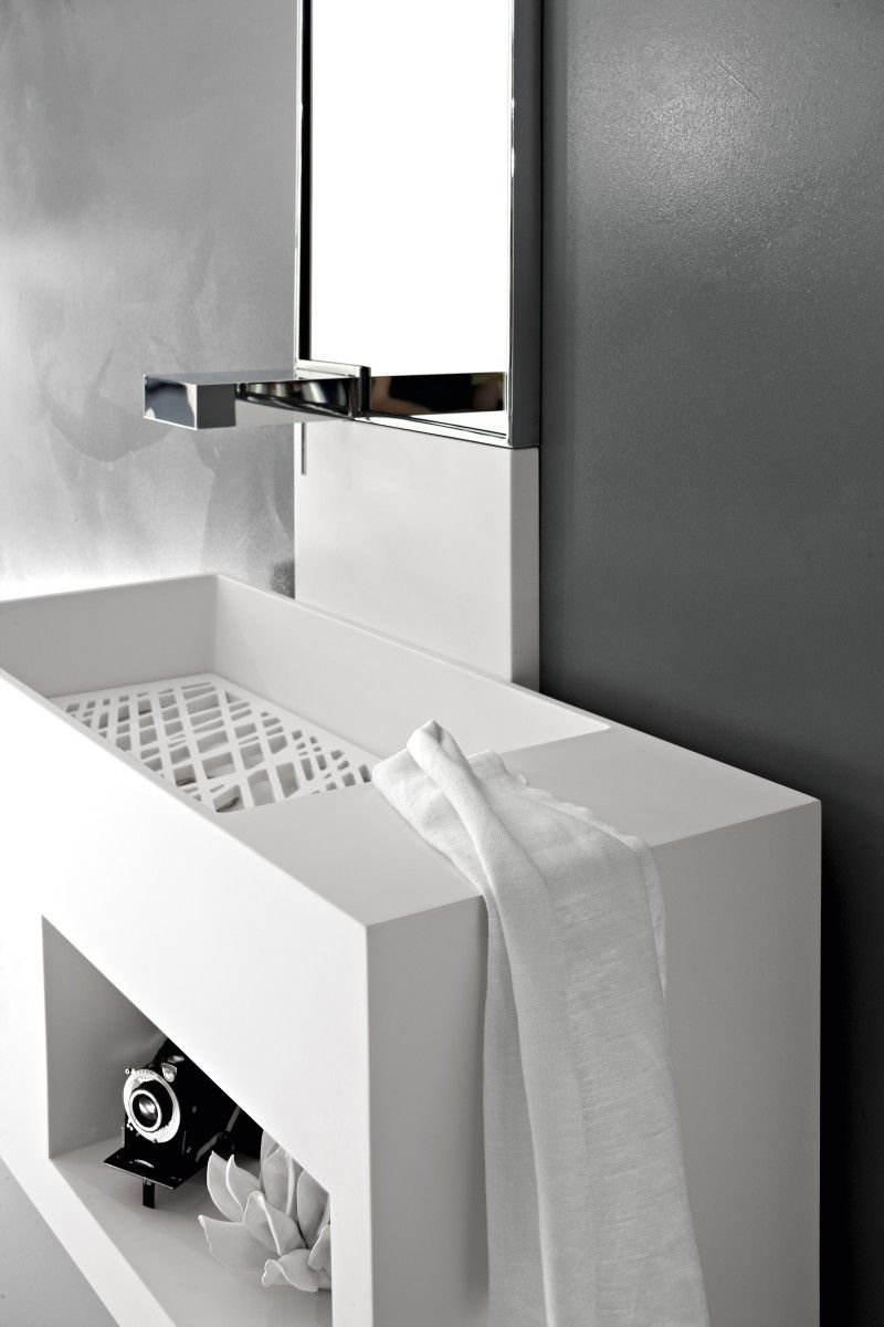 This cube vanity-basin combination provides a unique opportunity for ...